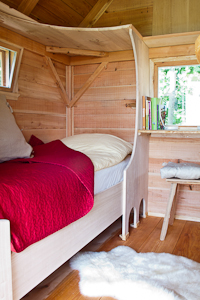 Very comfortable beds in The Little Green Cottage